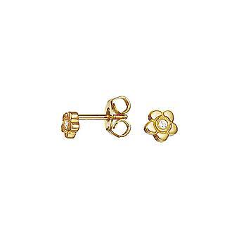 ESPRIT kids oorbellen JW50258 zilver goud bloem ESER92736B000