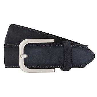 Correa de cuero cinturones BRAX cinturones hombres 4687 azul gamuza
