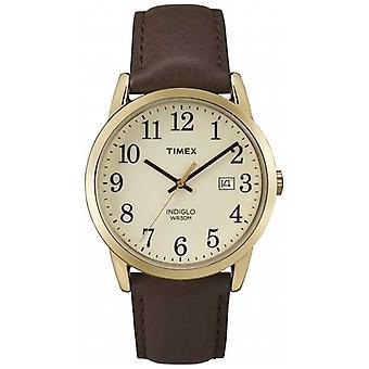 Timex Men's Easy Reader Cream Dial Nahkahihna TW2P75800 Kello