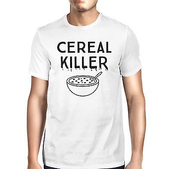 Korn Killer T-Shirt Herre hvid sjove grafiske Halloween Tee Shirt