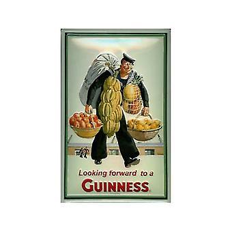 Signo de acero realzada de Guinness marinero