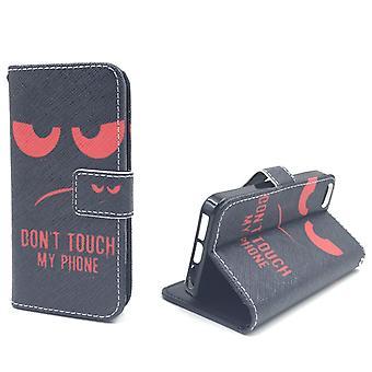 Telefono cellulare custodia per telefono cellulare Apple iPhone 5 / 5 s non toccare il mio telefono rosso