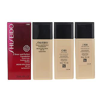 Shiseido ren och perfekt Foundation SPF18 1oz / 30ml nya inkorgen välj din nyans
