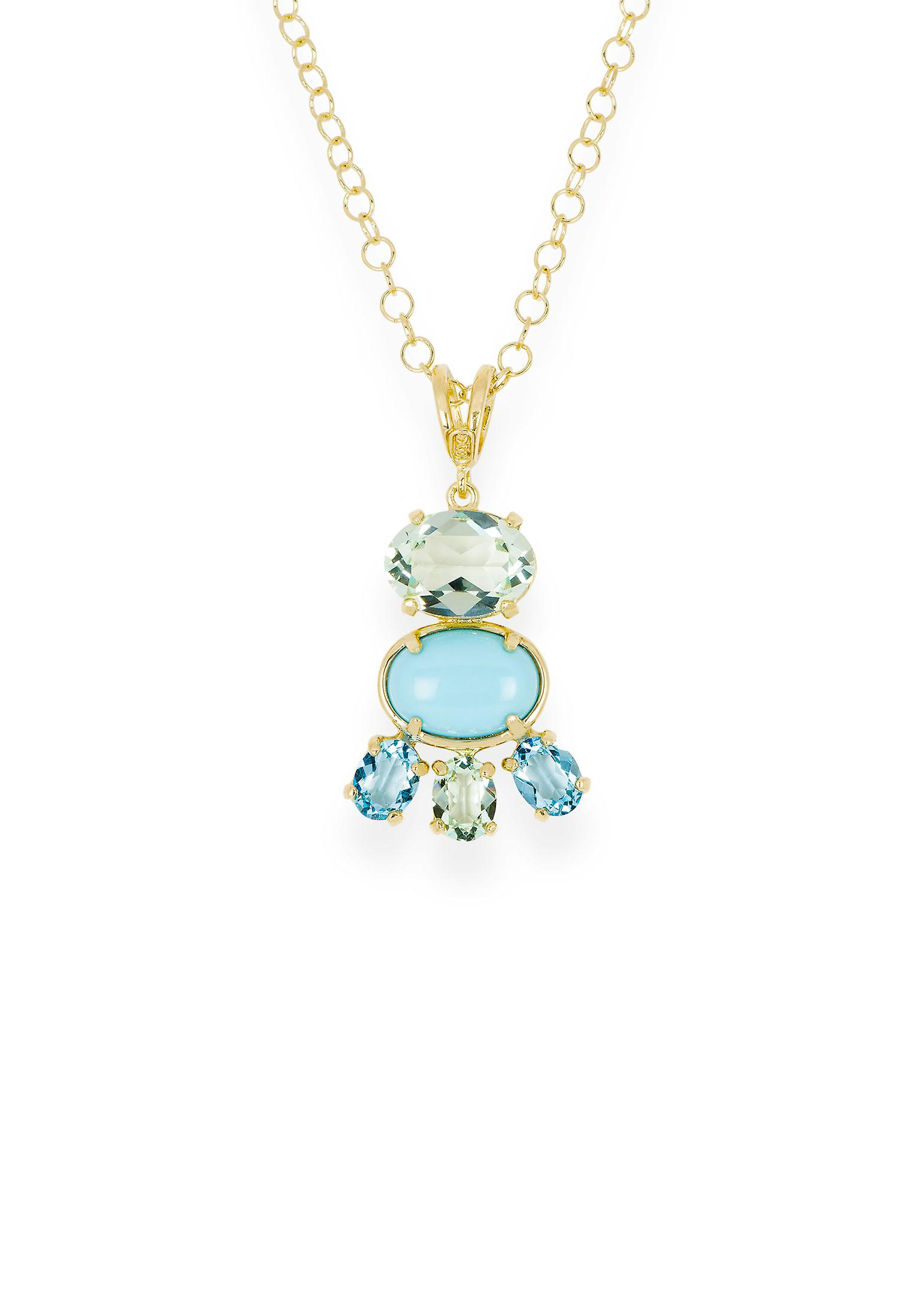 Multicolor pendant with crystals from Swarovski 9251