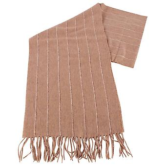 Bassin and Brown Rehn Striped Cashmere Scarf  - Camel