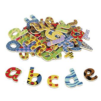 Tidlo Wooden Educational Magnetic Letters (Lowercase) Learn Play