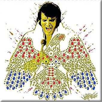 Elvis Presley koelkast magneet American Eagle nieuwe officiële 76 x 76 mm
