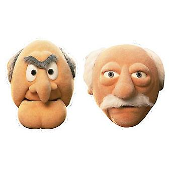 Statler og Waldor Card Fancy Dress Mask Sæt med 2 (The Muppets)