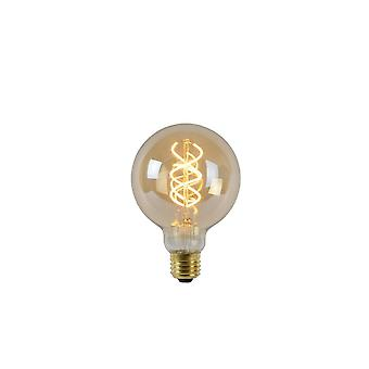 Lucide lampadina LED forma: Rotondo in vetro ambra filamento della lampadina