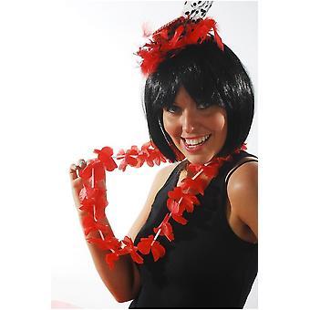 Hawai og tropiske Hawaiian flower garland rød