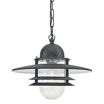 Lanterna de cadeia exterior Oslo - Elstead iluminação Os8 preto C