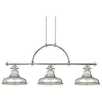 Emery císařský stříbrný 3 lehký lustr-Elstead Lighting QZ/Emery3P IS