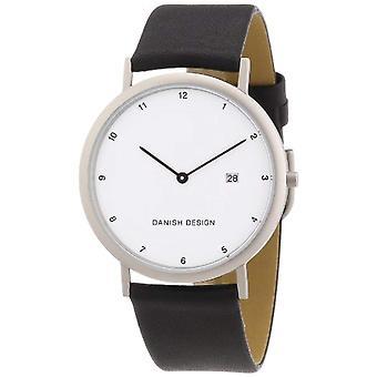 Reloj de pulsera de diseño danés 3316313 hombres, cuero, color: negro