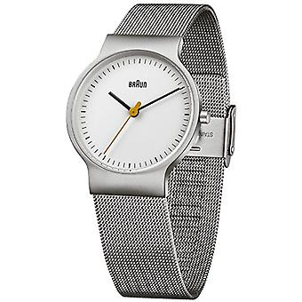 Braun classic wristwatch analog quartz wrist watch stainless steel BN0211WHSLMHL