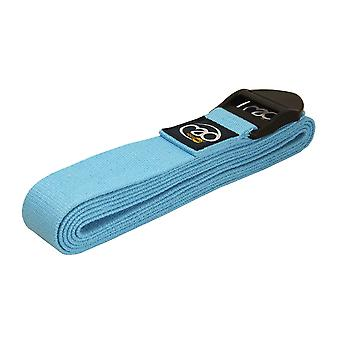 Fitness Mad 2M Deluxe Cotton Yoga Belt - Light Blue