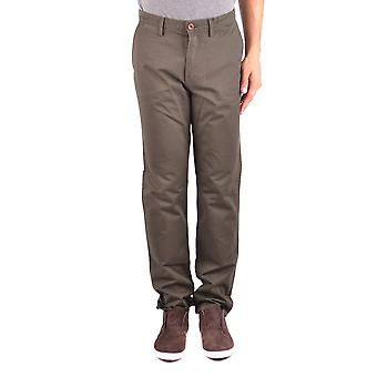 Fred Perry Ezbc094066 Men's Green Cotton Pants
