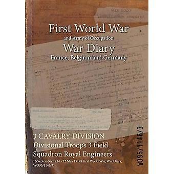 3 divisione di cavalleria divisionale truppe 3 campo Squadron Royal Engineers 16 settembre 1914 22 maggio 1919 prima guerra mondiale guerra diario WO9511463 di WO9511463