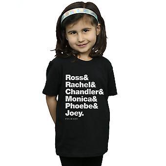 Vrienden meisjes voornamen tekst T-Shirt