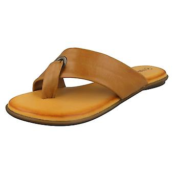 Ladies Leather Collection Toepost Sandals F00199