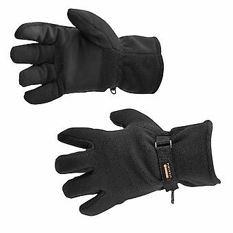 Portwest - Fleece Glove Insulatex Lined Black Regular