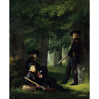Theodor Korner, Friedrich, Georg Friedrich Kersting, 50x40cm