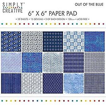Simply Creative 6x6 Inch Paper Pad Out Of The Blue