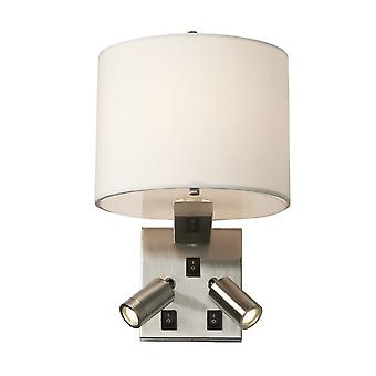 Stead-3 Light Wall Light-Brushed Nickel Finish-BELMONT/3W