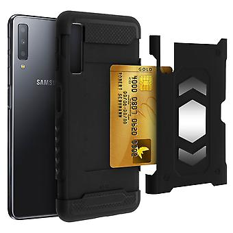 Shockproof Hybrid Protection Case, Samsung Galaxy A7 2018 Forcell Black