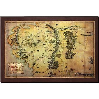 Hobbit 16 x 12 tuuman kartta Middle Earth