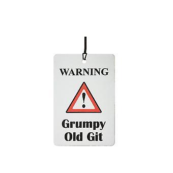 Ostrzeżenie - złym humorze stary Git samochodowa zawieszka zapachowa