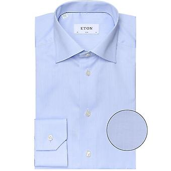 Eton Slim Fit camisa de sarga de firma