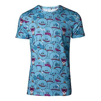 Rick et Morty T-Shirt AOP Mr Meeseeks Mens T-Shirt X-large bleu TS462228RMT-XL