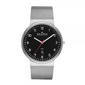 Skagen Ancher Relaxed Black & Silver Watch SKW6051