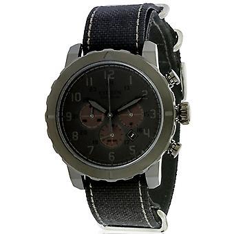 Cronografo Citizen Eco-Drive militare tutto nero Nylon Mens Watch CA4098-06E