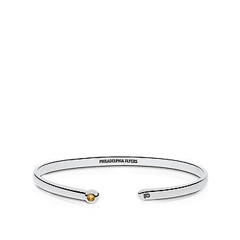 Philadelphia Flyers Engraved Sterling Silver Citrine Cuff Bracelet