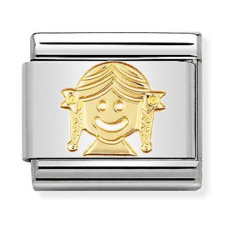 Nomination Classic Girl Steel and 18k Gold Link Charm 030110/03