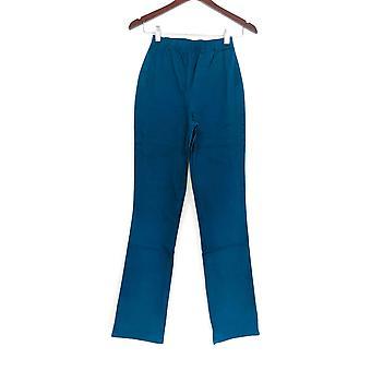 Denim & Co. leggings TXS stretch høj støvle cut Mallard blå A01725