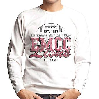 East Mississippi Community College Dark Distressed Lions Men's Sweatshirt