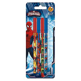 Stick Pens - Spider-Man - 4pk New Toys Gifts Stationery iw1265
