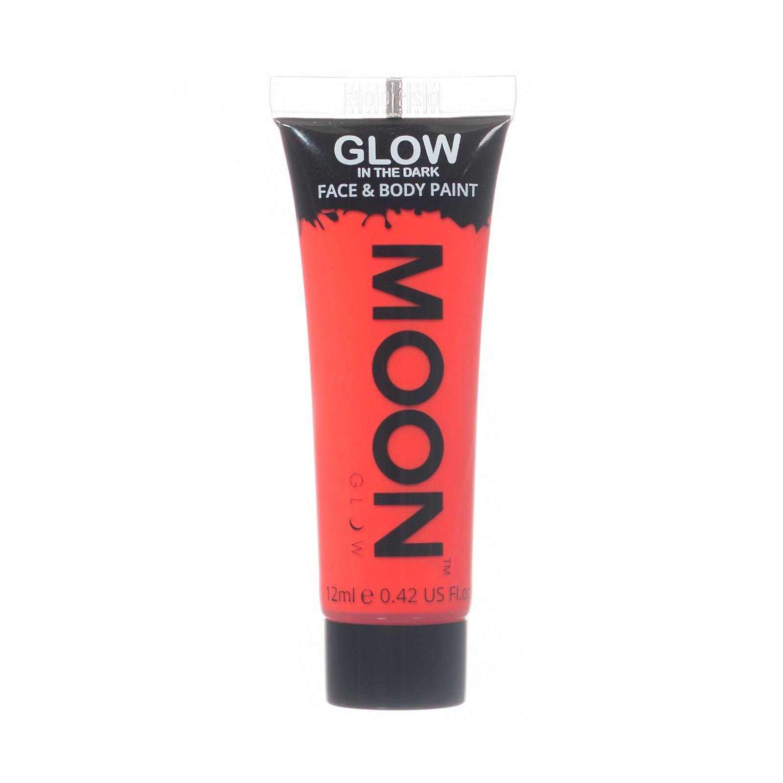 Moon Glow - 12ml Glow in the Dark Face & Body Paint - Red