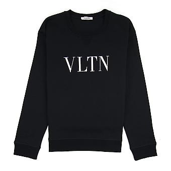 Valentino Vltn Crewneck Sweatshirt Noir
