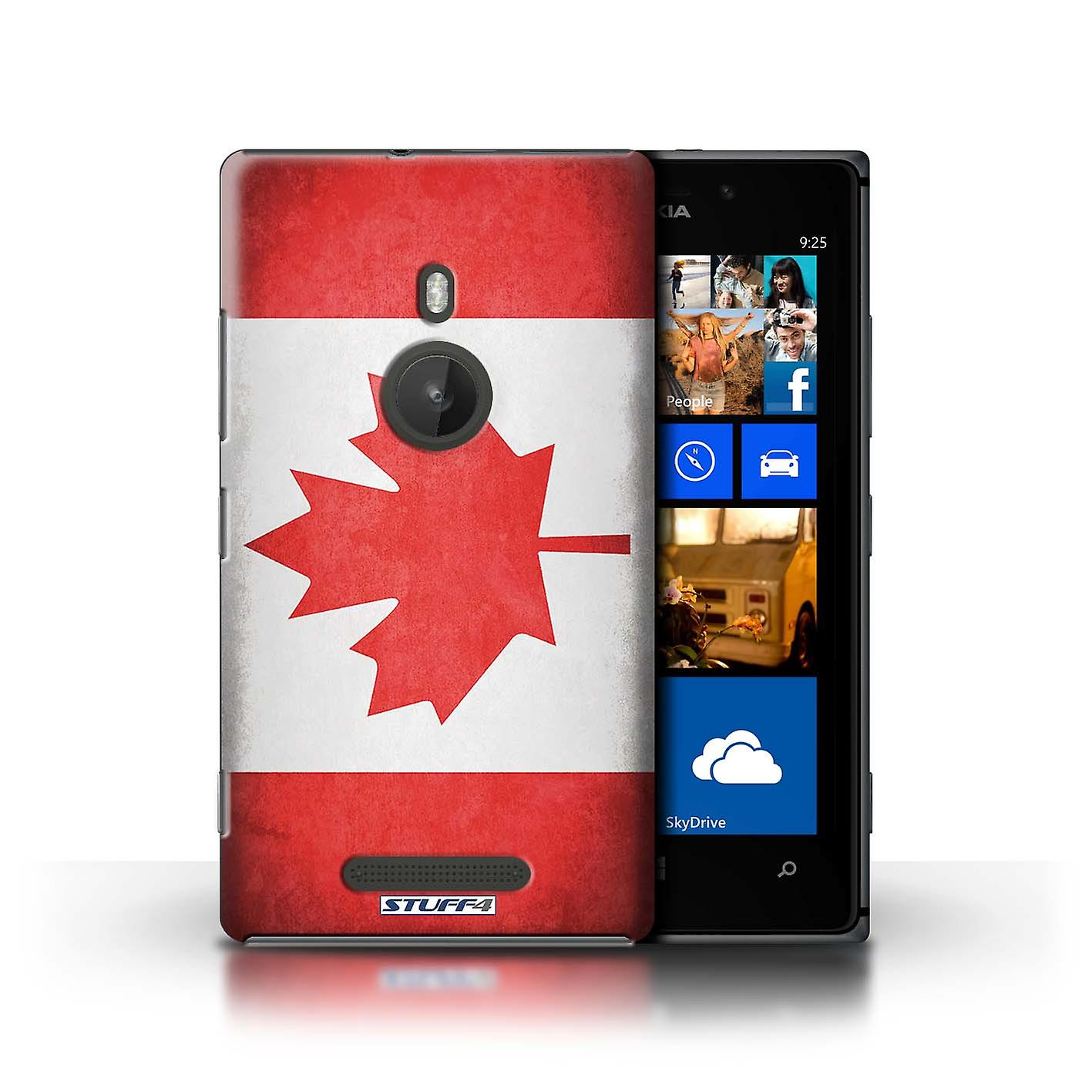 STUFF4 Case/Cover for Nokia Lumia 925/Canada/Canadian/Flags