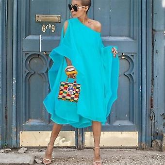 MIDI oversized addisjonstegn størrelse kjole