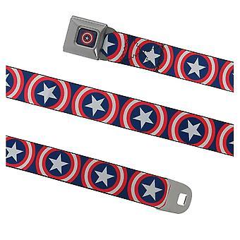Captain America Shield på Navy säkerhetsbälte bälte