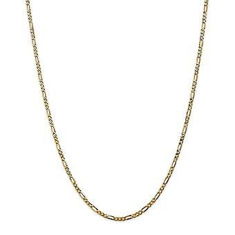 14k giallo oro Lobster Claw chiusura 2,75 mm piatto Figaro cavigliera - lunghezza: 9-10