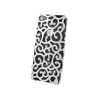 iPhone 5/5s/SE fancy bakdeksel med skjermdeksel-sølv