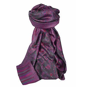 Mens Jamawar Premium Silk Scarf Pattern 3879 by Pashmina & Silk