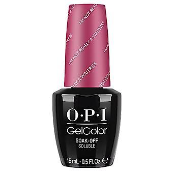 OPI GelColor Gel Color - Soak Off Gel Polish - Im Not Really A Waitress 15ml (GC H08)