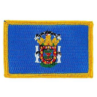 Patch Ecusson Brode Flag Melilla Flag Thermocollant Insigne Blason