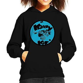 Krazy Kat Blue Logo Kid's Hooded Sweatshirt